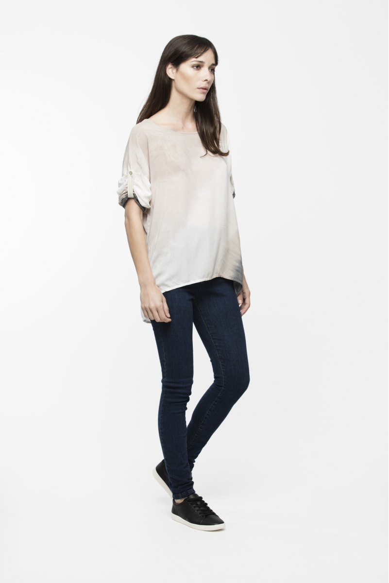 TOP ELIES GRIS, CRUDO Y BEIGE