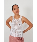CROPPED CROCHET TOP