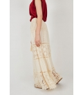 LONG SKIRT WITH PERFORATED EMBROIDERY