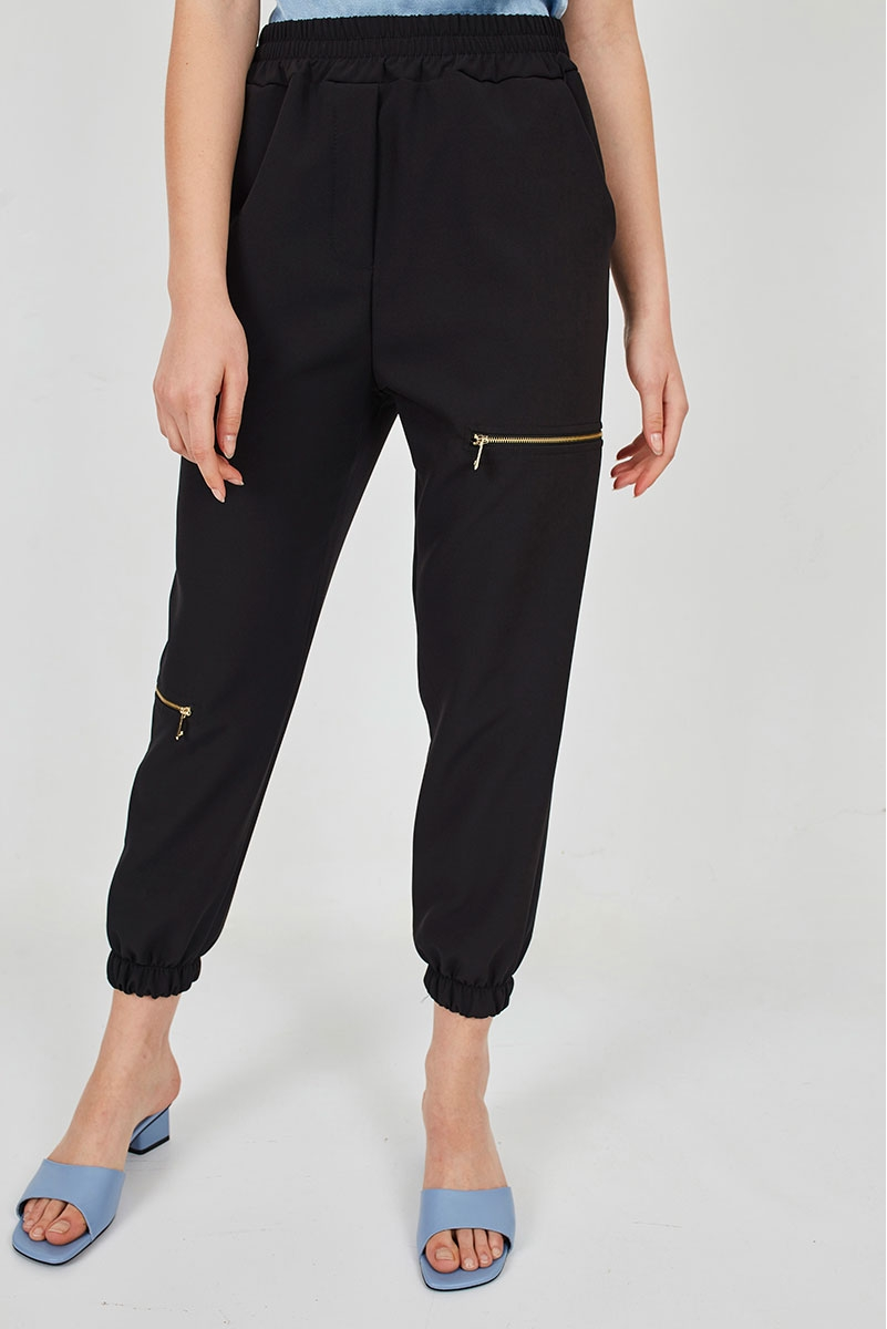 JOGGERS WITH ZIPPERS