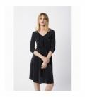 Pleasted Black Dress