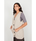 LONG VEST WITH BUTTONS