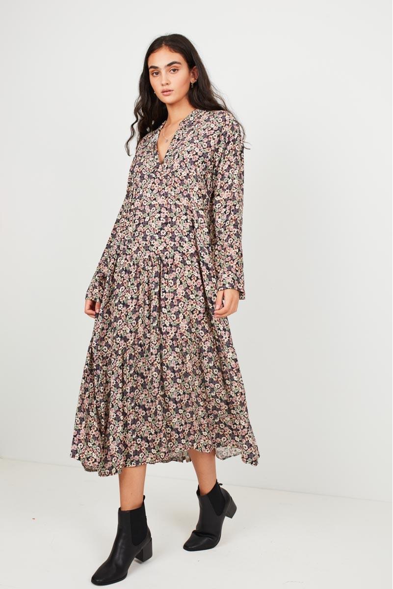 LARGE FLORAL PRINT DRESS