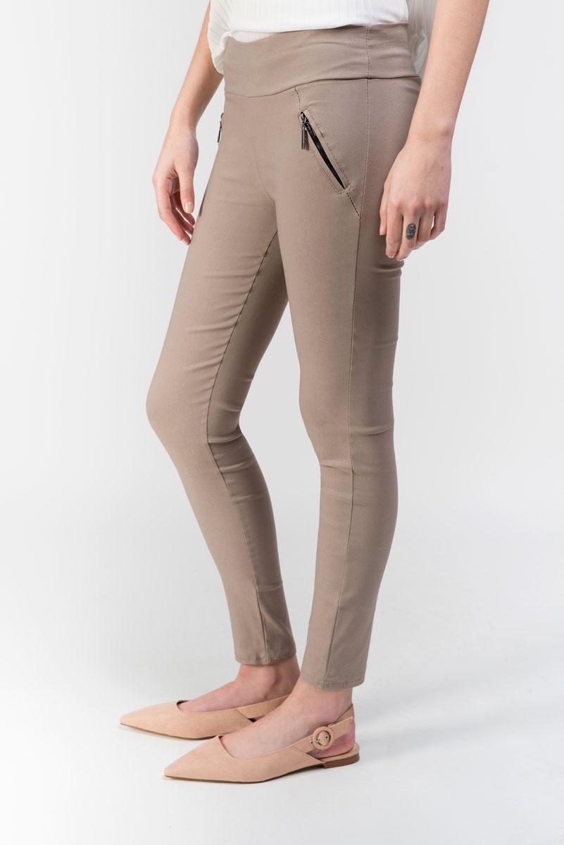 Pantalón estilo legging cremalleras