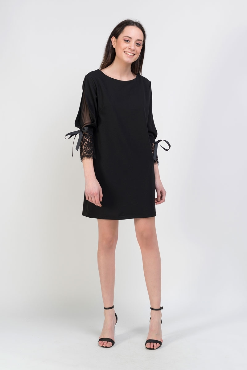 lace combined dress