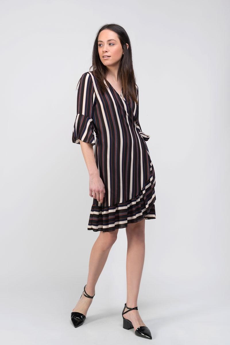 striped cross dress