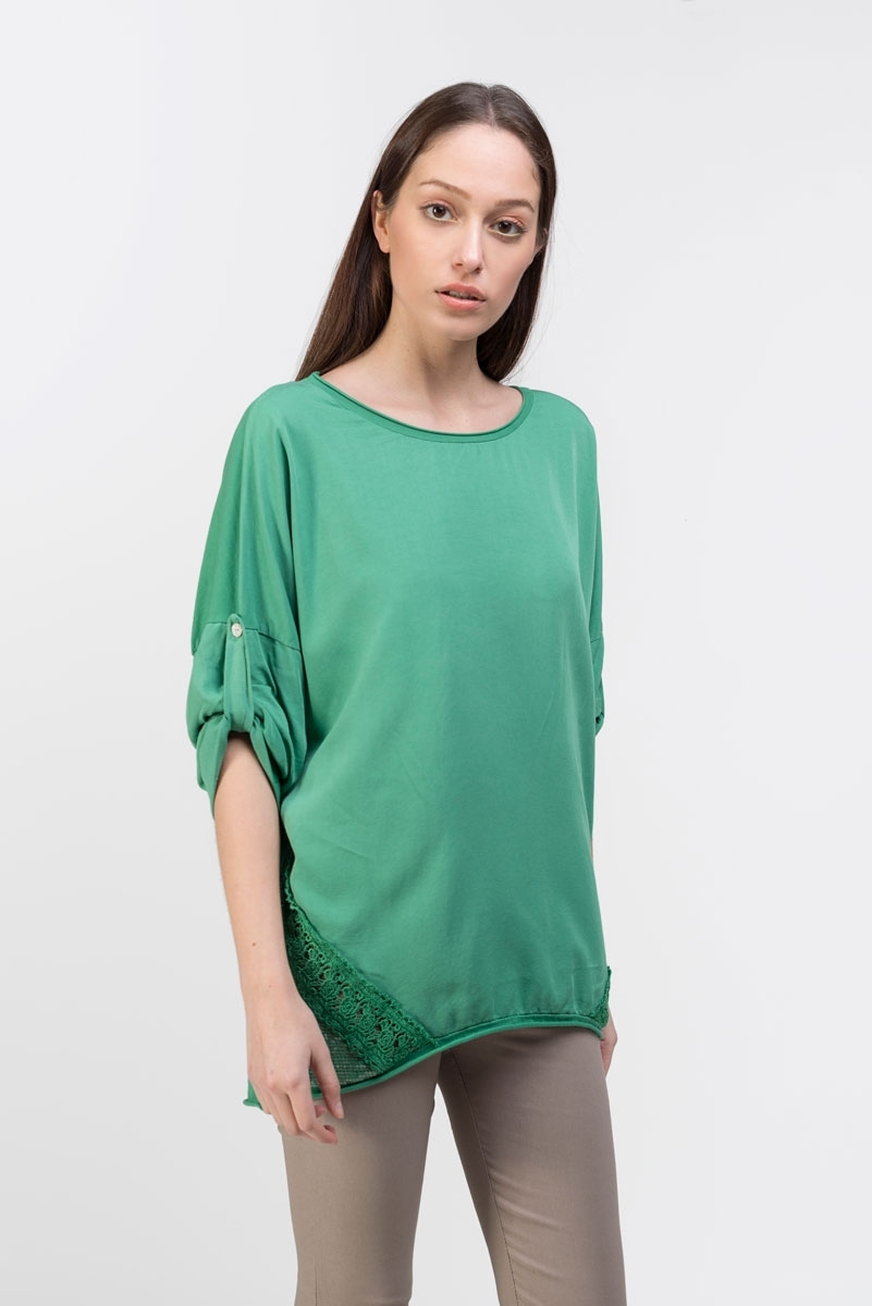 sequins green top