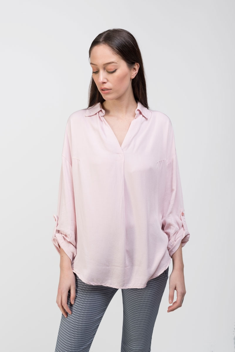 smooth pink shirt top