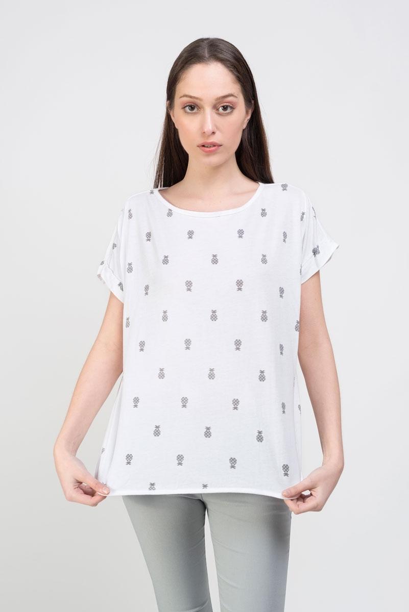 Camiseta piñas blanca