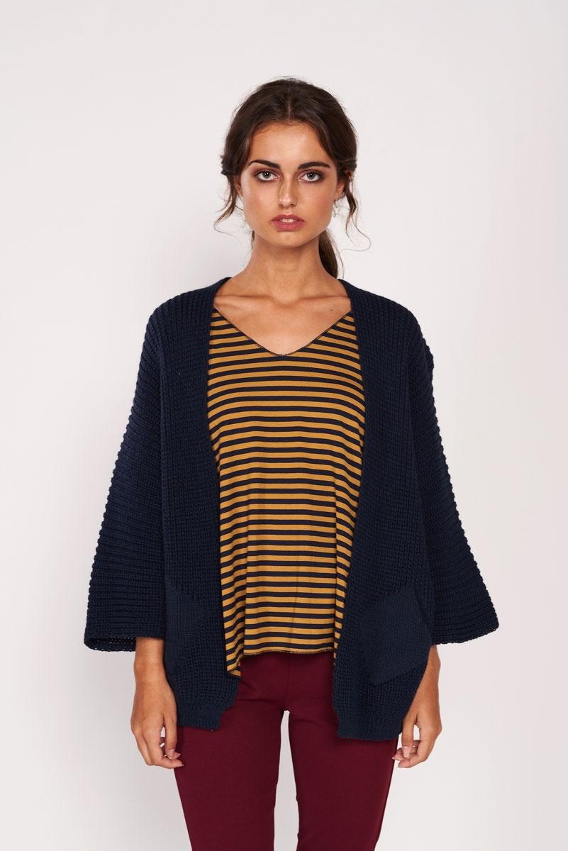 Chaqueta lana oversize