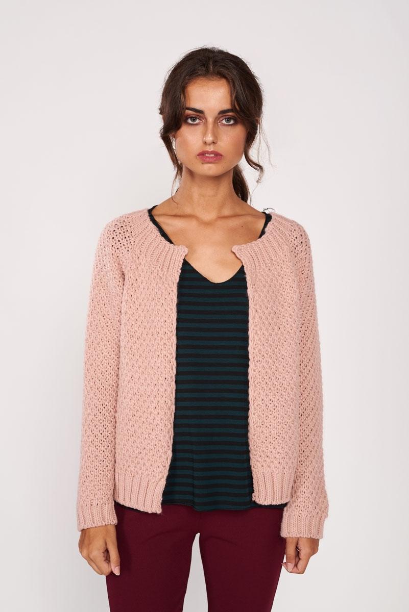 Chaqueta de lana tejida
