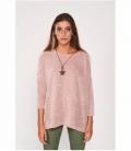 Satin textured sweater