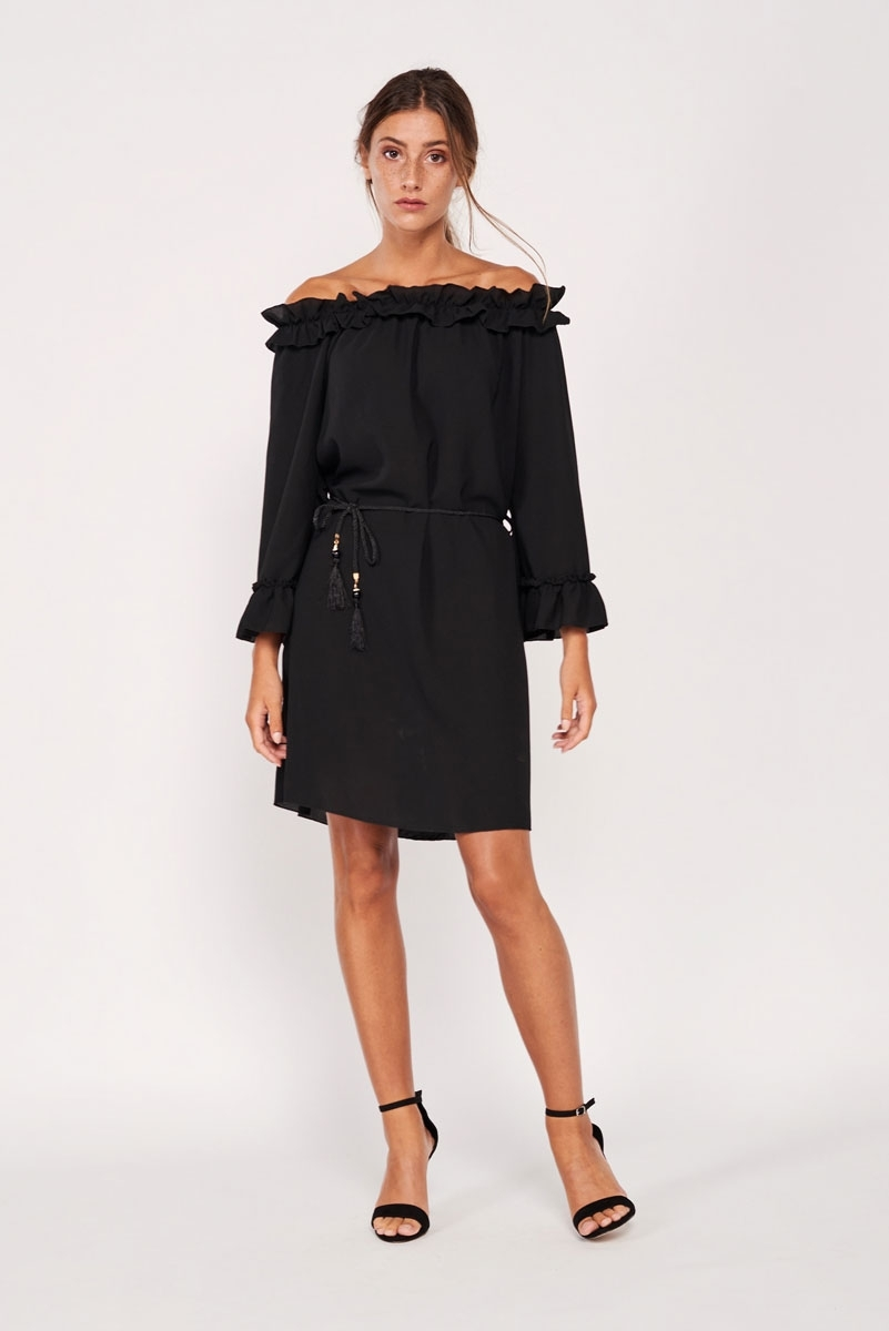 Ruffle applique dress