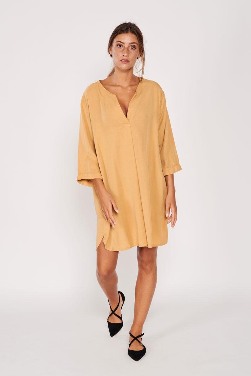Vestido túnica mostaza
