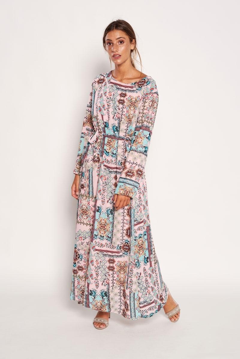 Abstract printed long dress