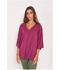 Top color con escote de pico