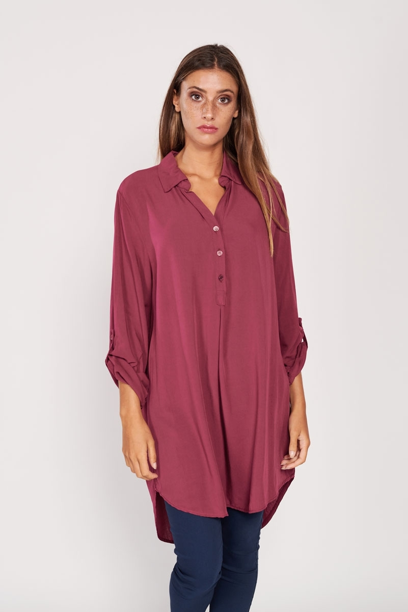 Fine corduroy shirt dress