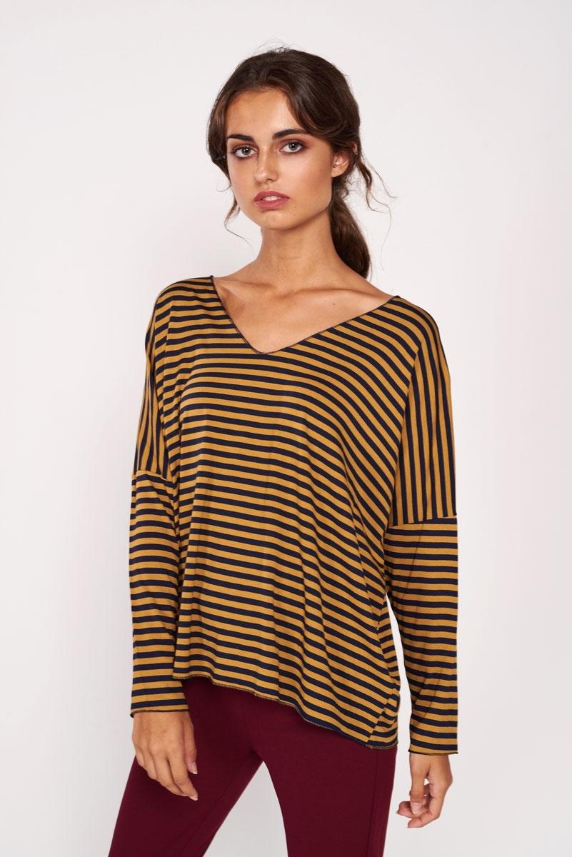 Mustard striped t-shirt