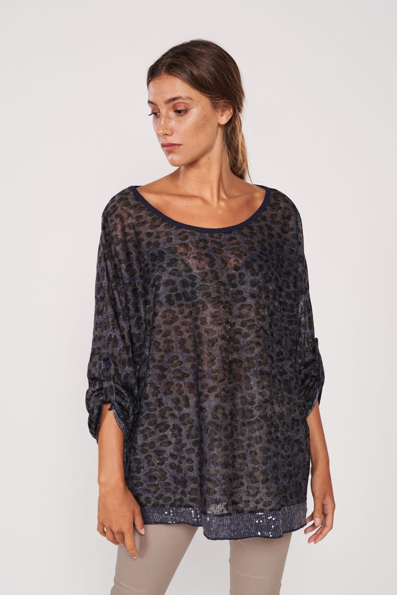 Animal sequins t-shirt