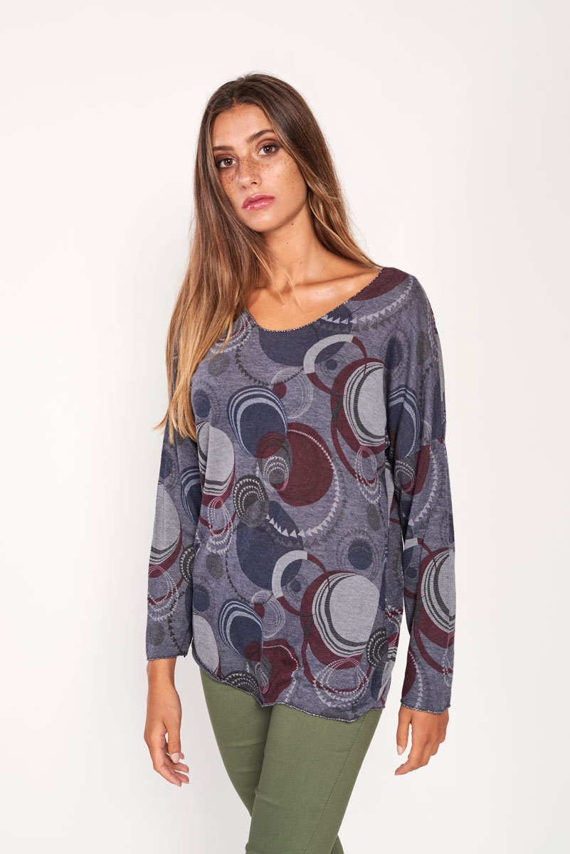 Camiseta estampado geométrico
