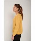 Openwork knit sweater