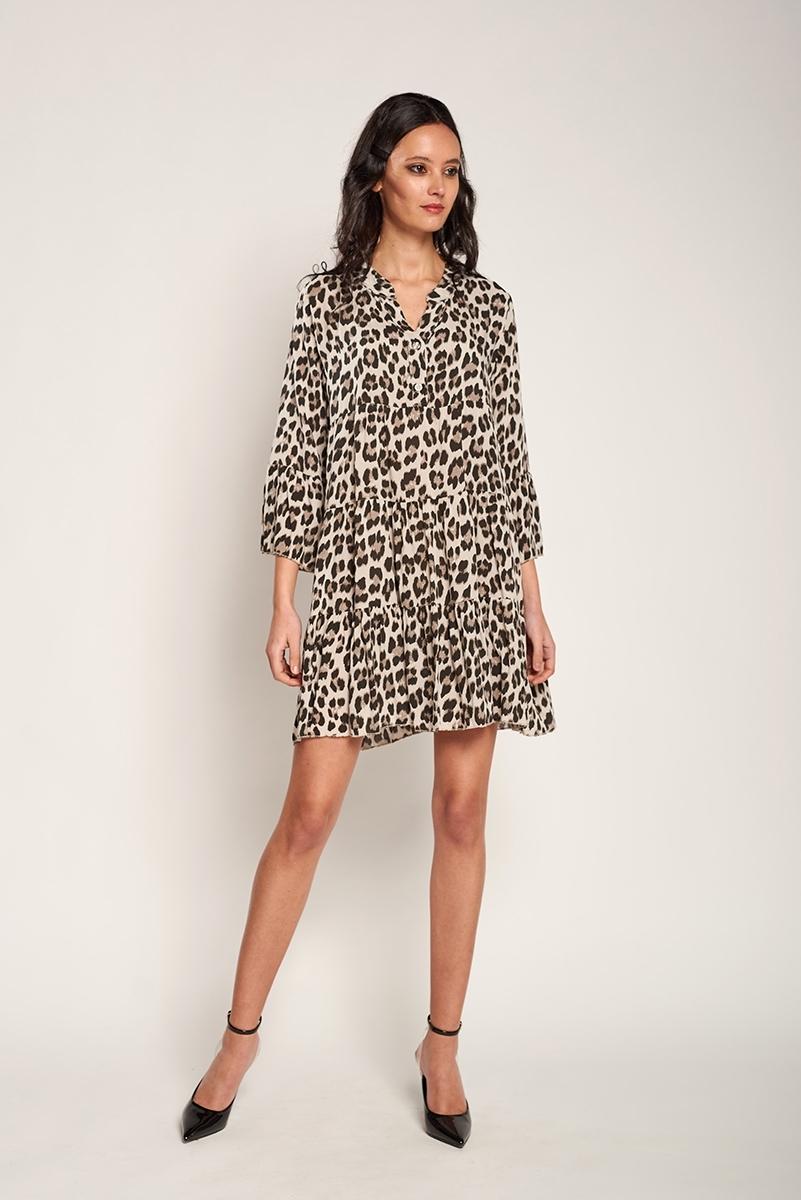 Fluid animal print dress