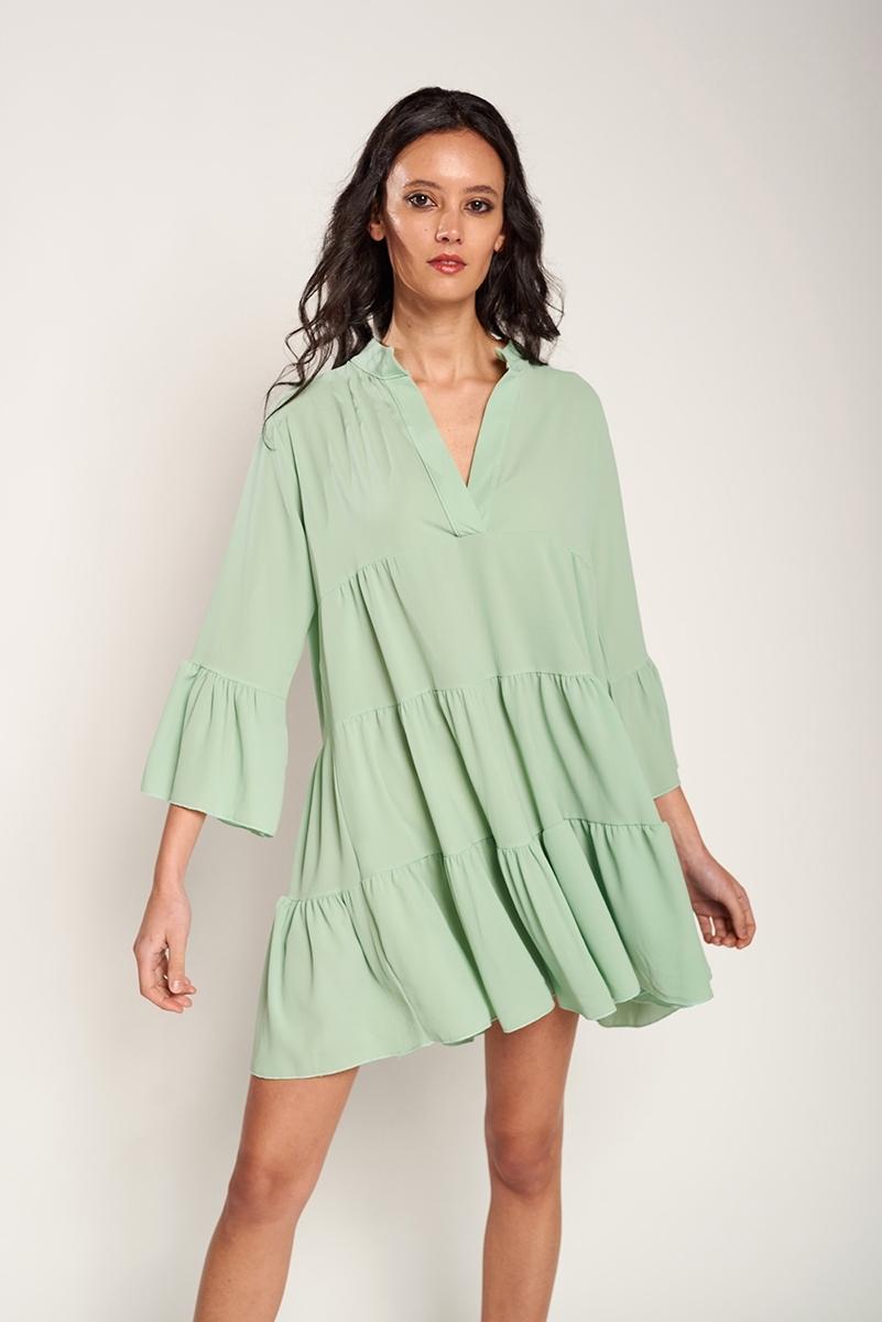 Colored fluid dress
