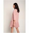 Dress with microplisado