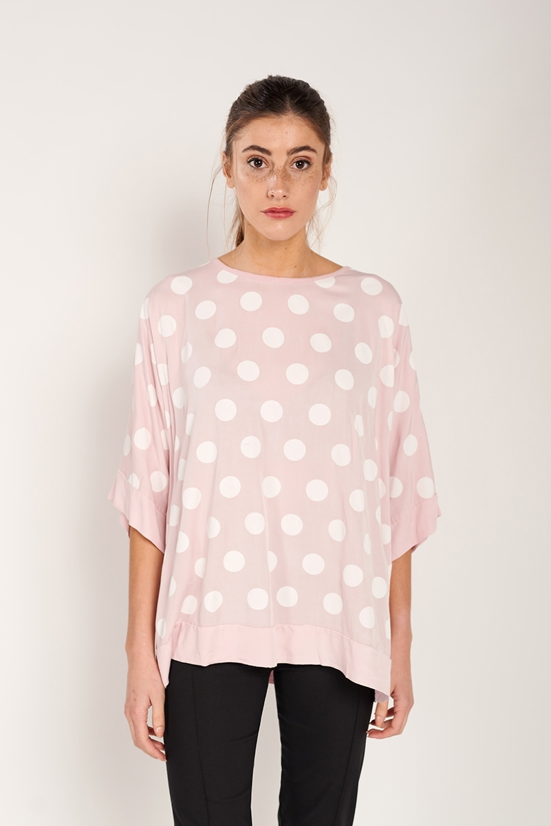Top oversize polka dots