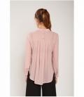 Semi-transparent neck blouse