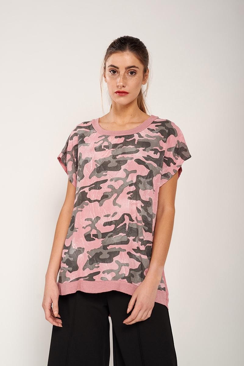 Camiseta combinada militar