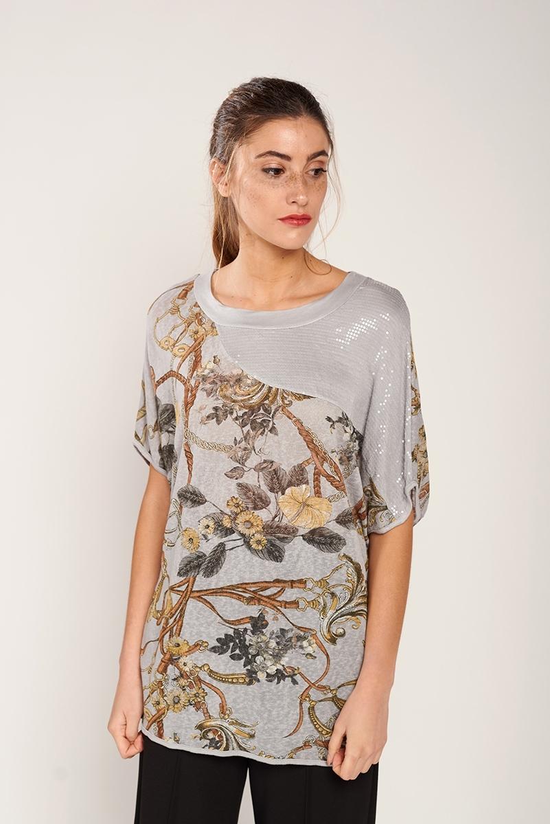 Chain print t-shirt