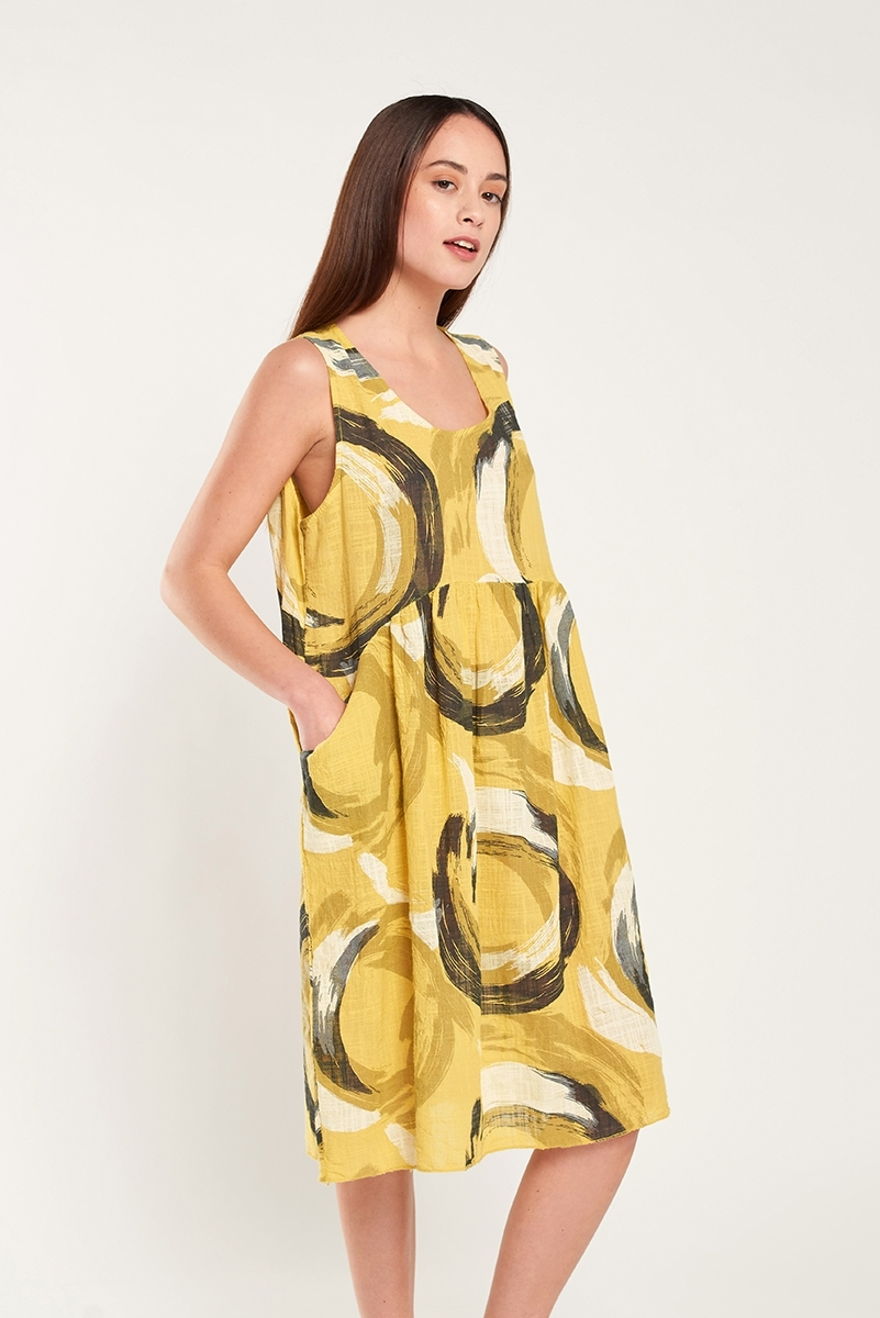Vestido lino estampado