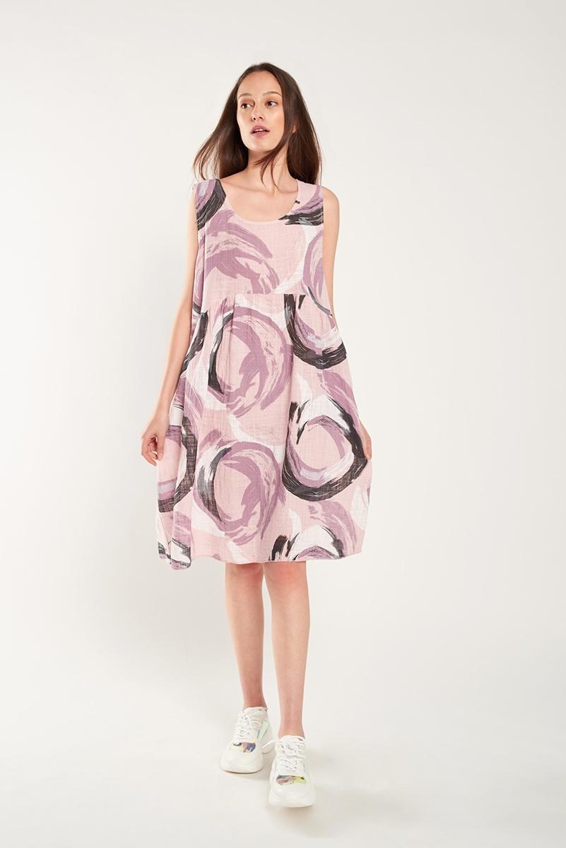 Printed linen dress