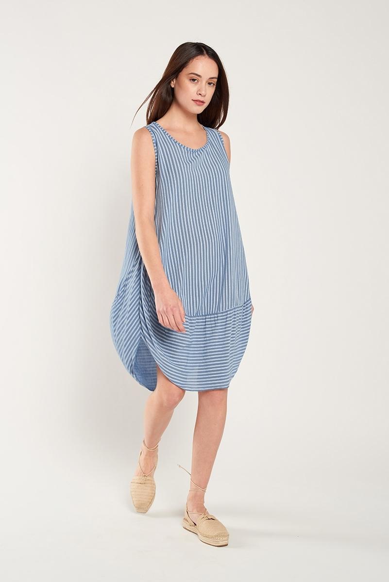 Striped balloon dress