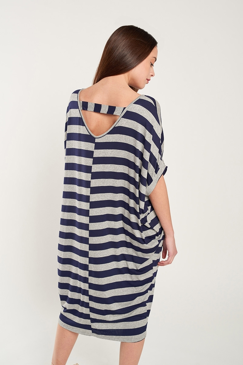 Oversized striped dress