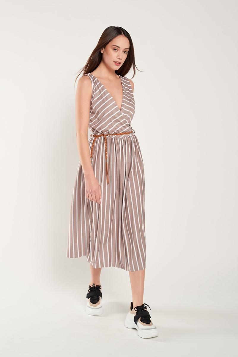 Crossed midi dress