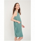 Linen combined dress