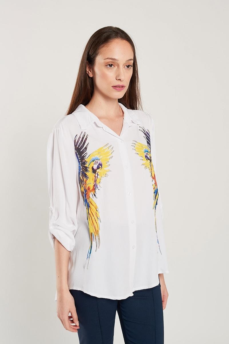 Parrot image shirt