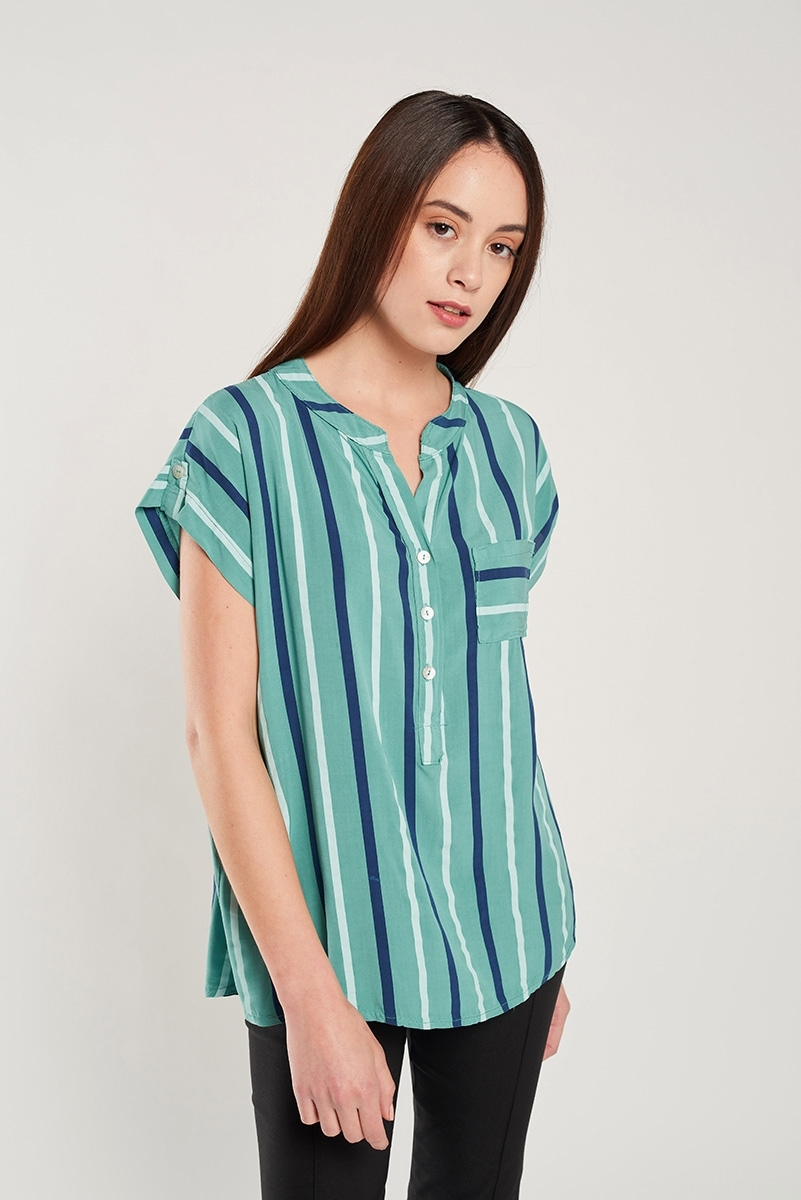 Top camisero de rayas