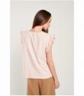 Shoulder embroidered applique shirt