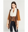 Leather effect shearling vest