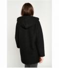 Curly zip coat