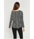 Geometric embossed sweater