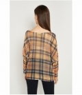 Checked print sweater