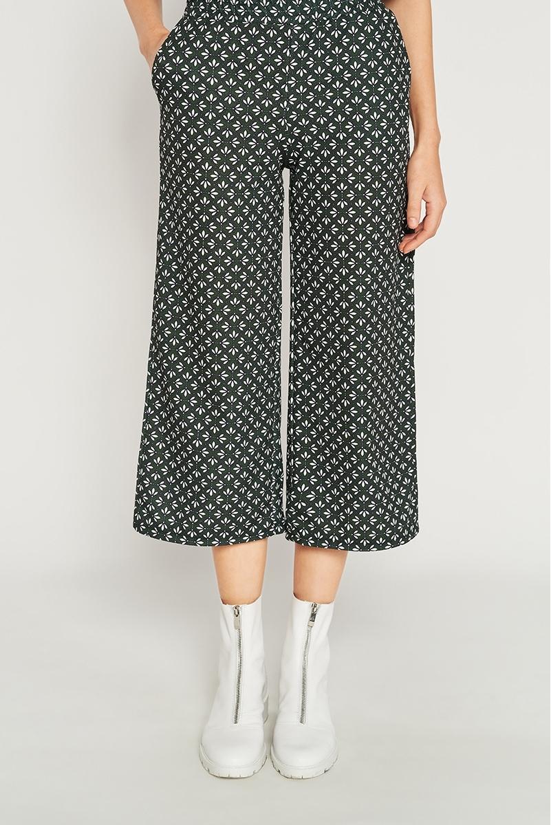 Pantalón culotte estampado geométrico