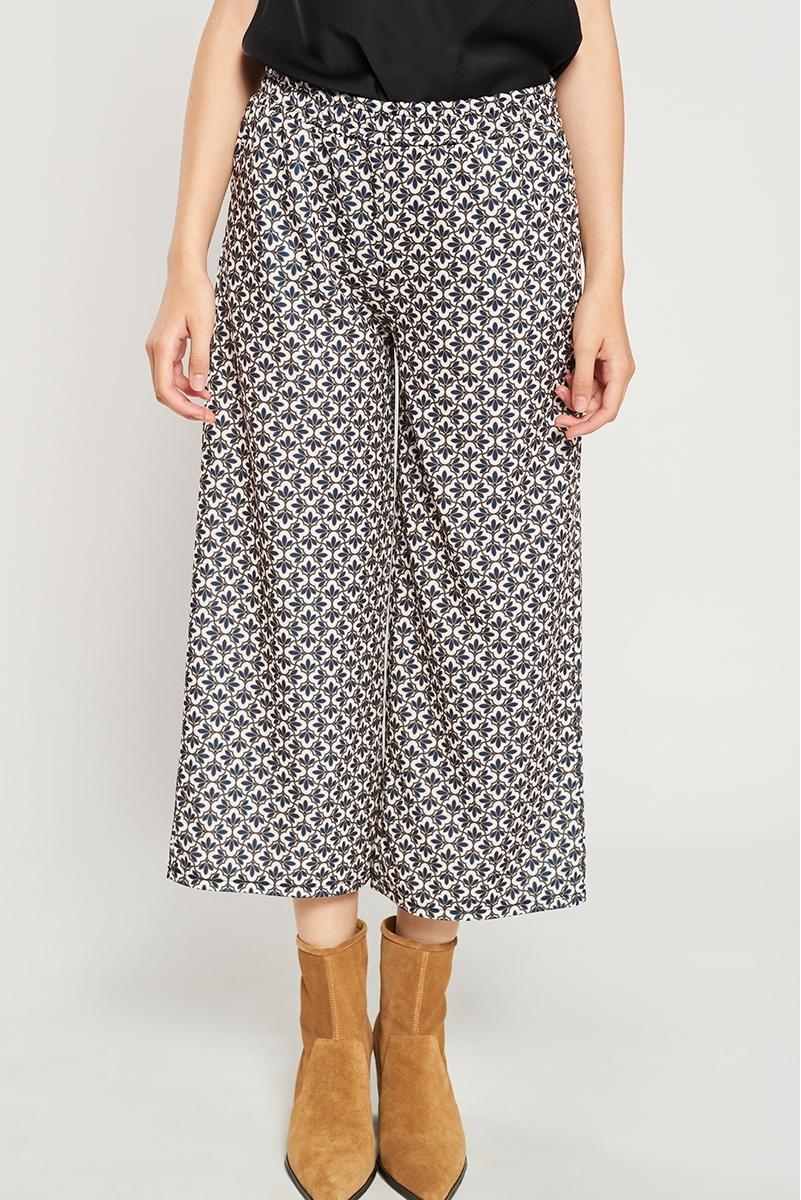 Geometric print culottes