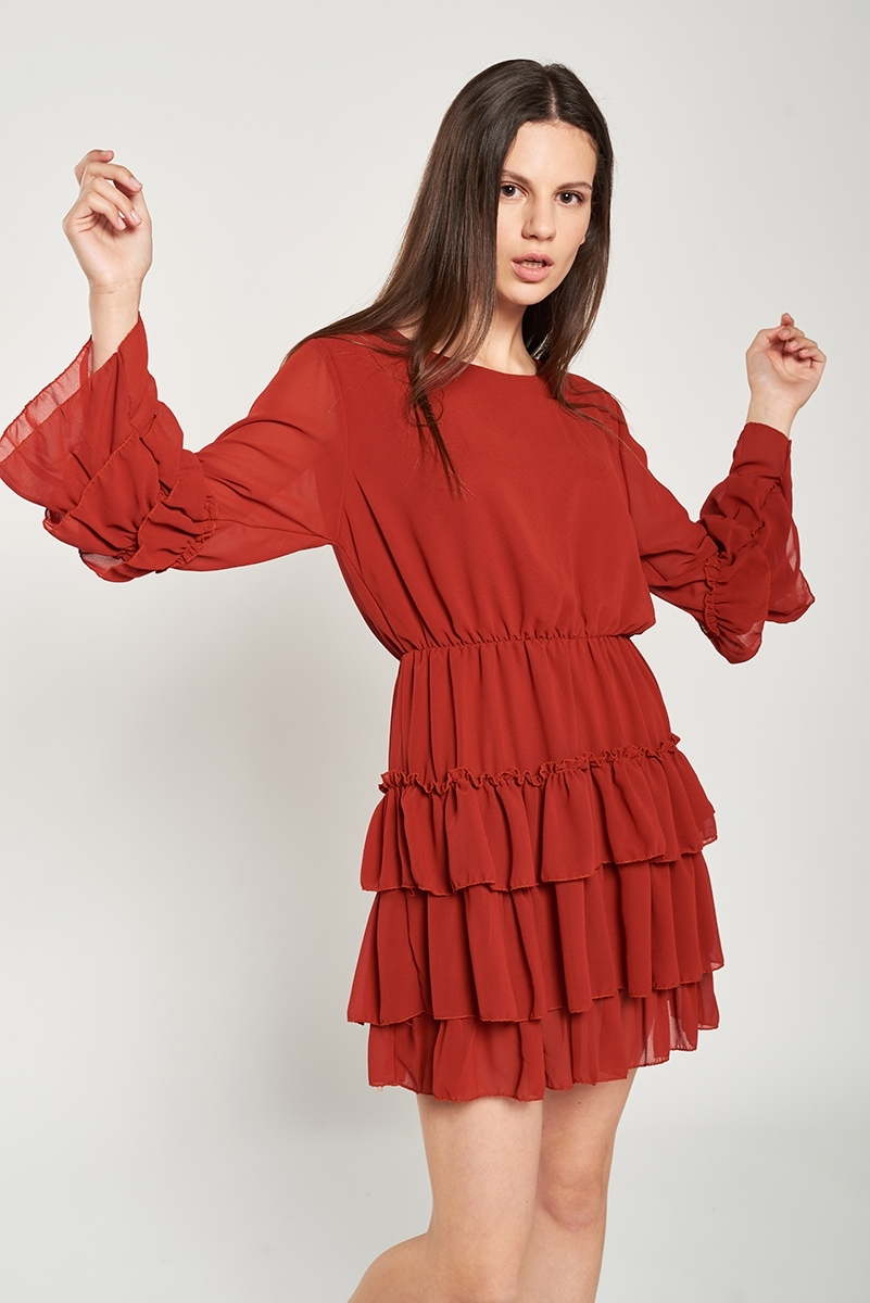Mini frills dress
