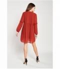 Micro-pleated ruffle dress