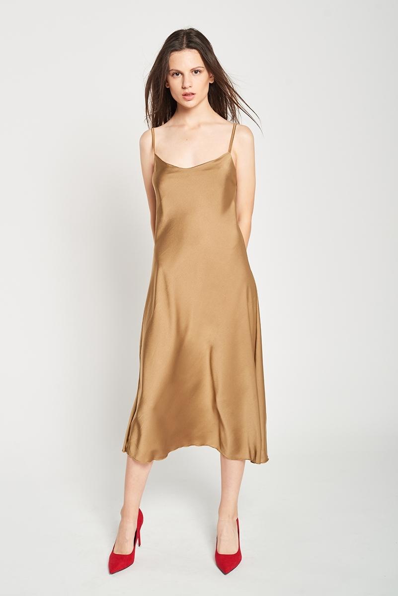 Vestido lencero satén